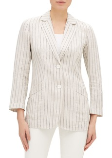 Lafayette 148 Boston Sundance Stripe Button-Front Jacket