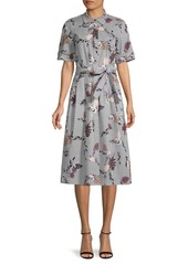 Lafayette 148 Botanical-Print Shirtdress