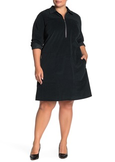 Lafayette 148 Bowie Corduroy Shirt Dress (Plus Size)