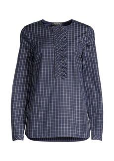 Lafayette 148 Bradford Crosshatch Shirt