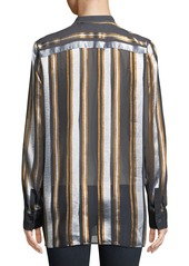 Lafayette 148 Brayden Ethereal Stripe Blouse
