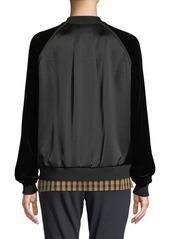 Lafayette 148 Brea Track Jacket W/ Velvet Combo