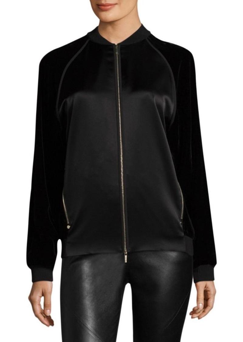 Lafayette 148 Brea Velvet Combo Jacket