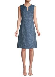 Lafayette 148 Brett Sleeveless A-Line Dress