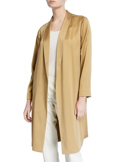 Lafayette 148 Brinsley Silk Jacket with Shawl Collar