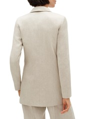 Lafayette 148 Britton Bespoke Twill Double-Breasted Jacket