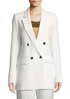 Lafayette 148 Britton Finesse Crepe Double-Breasted Jacket