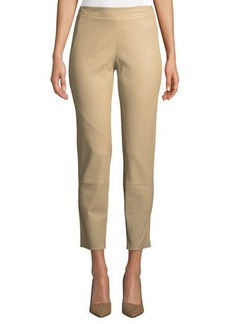 Lafayette 148 Brooklyn Stretch-Napa Leather Leggings