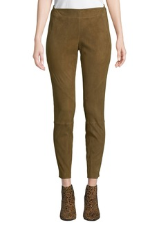 Lafayette 148 Brooklyn Stretch-Suede Leggings