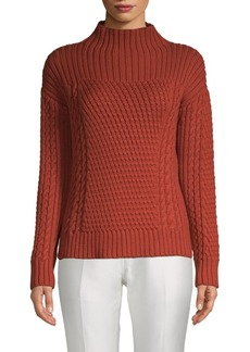 Lafayette 148 Cable Knit Wool Sweater