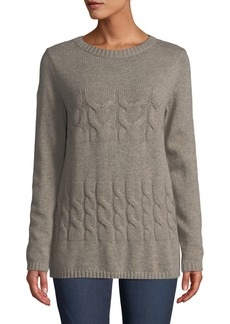 Lafayette 148 Cable Open Knit Pullover Sweater