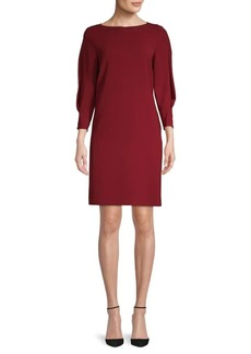 Lafayette 148 Caddie Puff-Sleeve Shift Dress