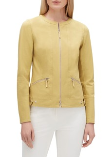 Lafayette 148 Cairo Zip-Front Fundamental Bi-Stretch Jacket