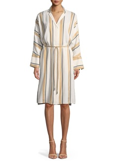 Lafayette 148 Calleigh Vienna Stripe Duster Dress