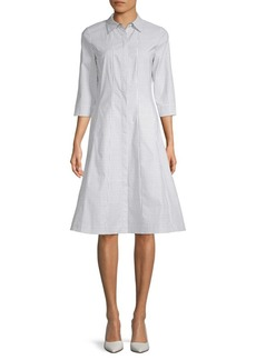 Lafayette 148 Cammi Stretch-Cotton Shirtdress