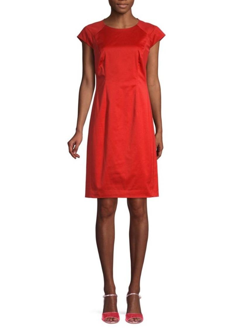 Lafayette 148 Cap-Sleeve Sheath Dress