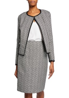 Lafayette 148 Caridee Tweed Asymmetric Jacket