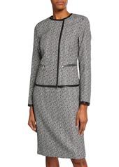 Lafayette 148 Caridee Tweed Asymmetric Jacket