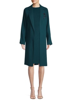 Lafayette 148 Carmelina Double Face Jacket With Pin Jacket