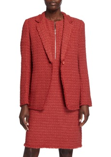 Lafayette 148 Carrie Textured One-Button Blazer