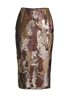 Lafayette 148 Casey Sequin Pencil Skirt