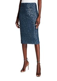 Lafayette 148 Casey Shimmering Sequin Pencil Skirt