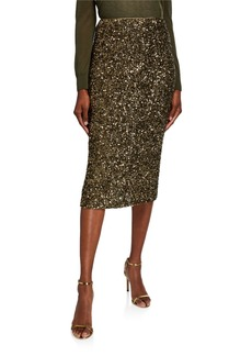 Lafayette 148 Casey Shimmering Sequin Pencil Skirt