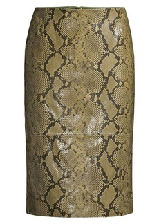 Lafayette 148 Casey Stretch Snake-Print Pencil Skirt