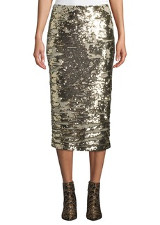 Lafayette 148 Casey Synergy Sequin Pencil Skirt