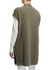 Lafayette 148 Cashmere Drape Vest