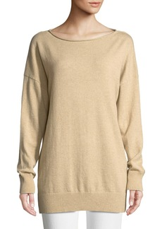 Lafayette 148 Cashmere Relaxed Pullover Sweater