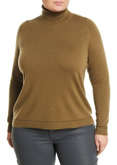 Lafayette 148 Cashmere Sequin-Trim Turtleneck Sweater