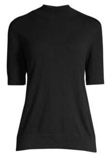 Lafayette 148 Cashmere Short-Sleeve Turtleneck Pullover