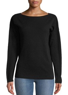 Lafayette 148 Cashmere V-Back Sweater