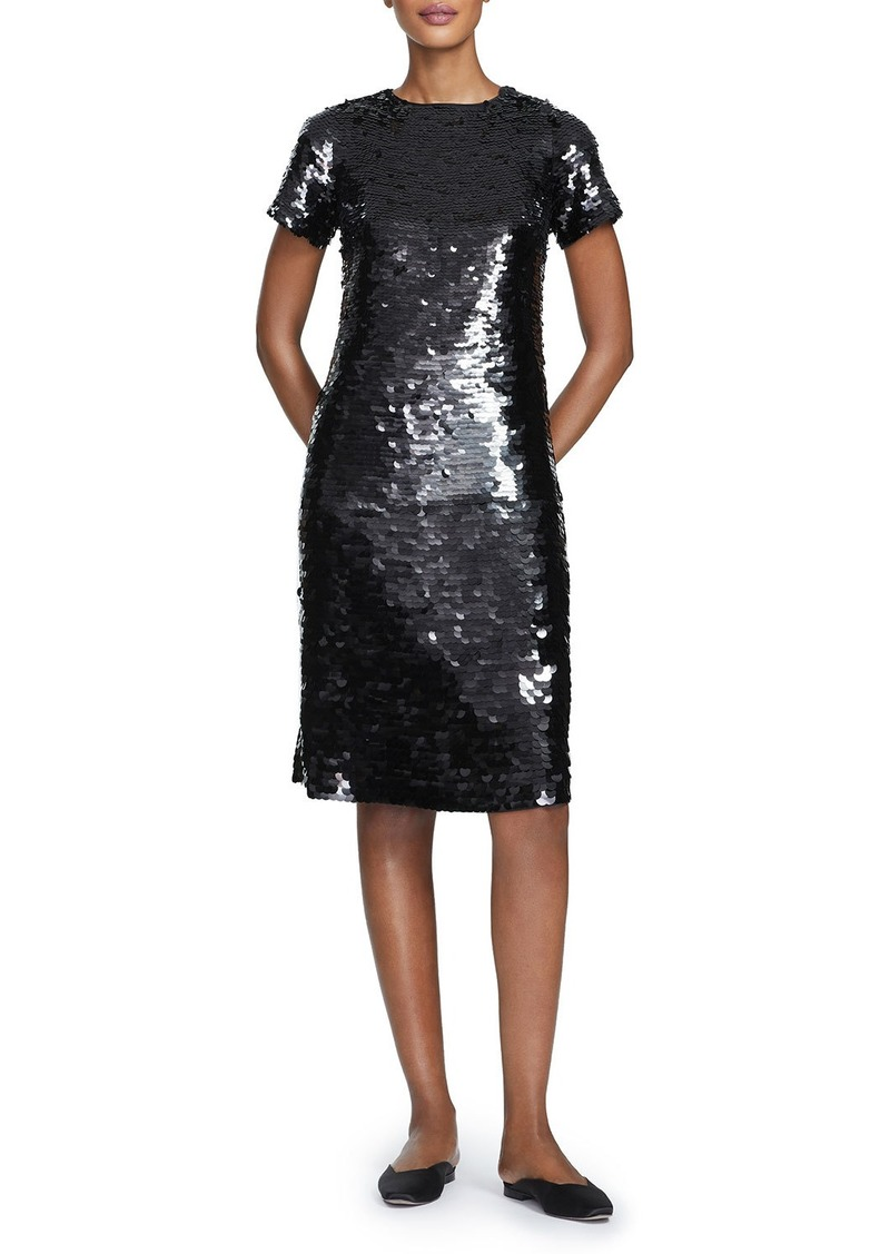 Lafayette 148 Cassia Ombre Sequins Sheath Dress
