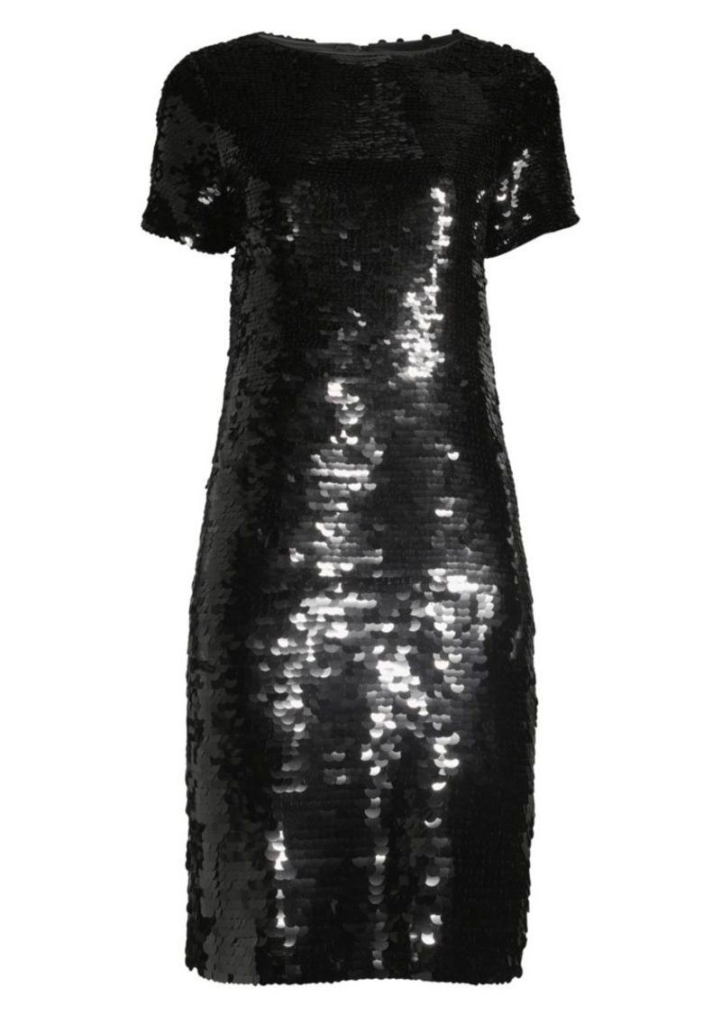Lafayette 148 Cassia Sequin Shift Dress