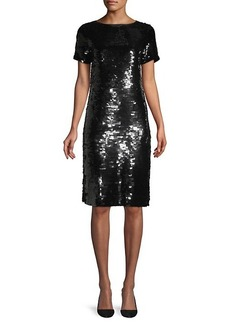Lafayette 148 Cassia Sequin Shift Dress