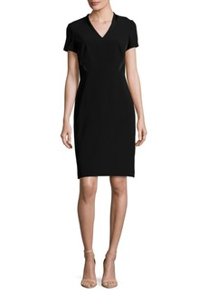 Lafayette 148 Catalina Solid Short-Sleeve Dress