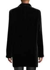 Lafayette 148 Cecily Open-Front Velvet Jacket
