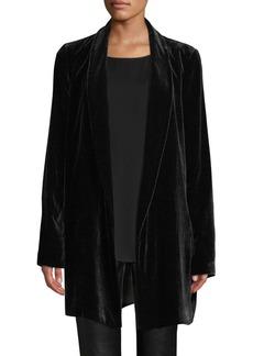 Lafayette 148 Cecily Velvet Open-Front Jacket