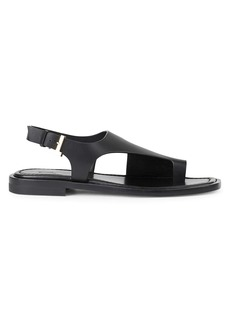 Lafayette 148 Celia Leather Slingback Sandals