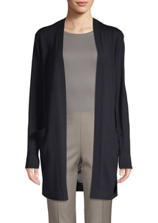 Lafayette 148 Chantilly Lace-Trimmed Cardigan