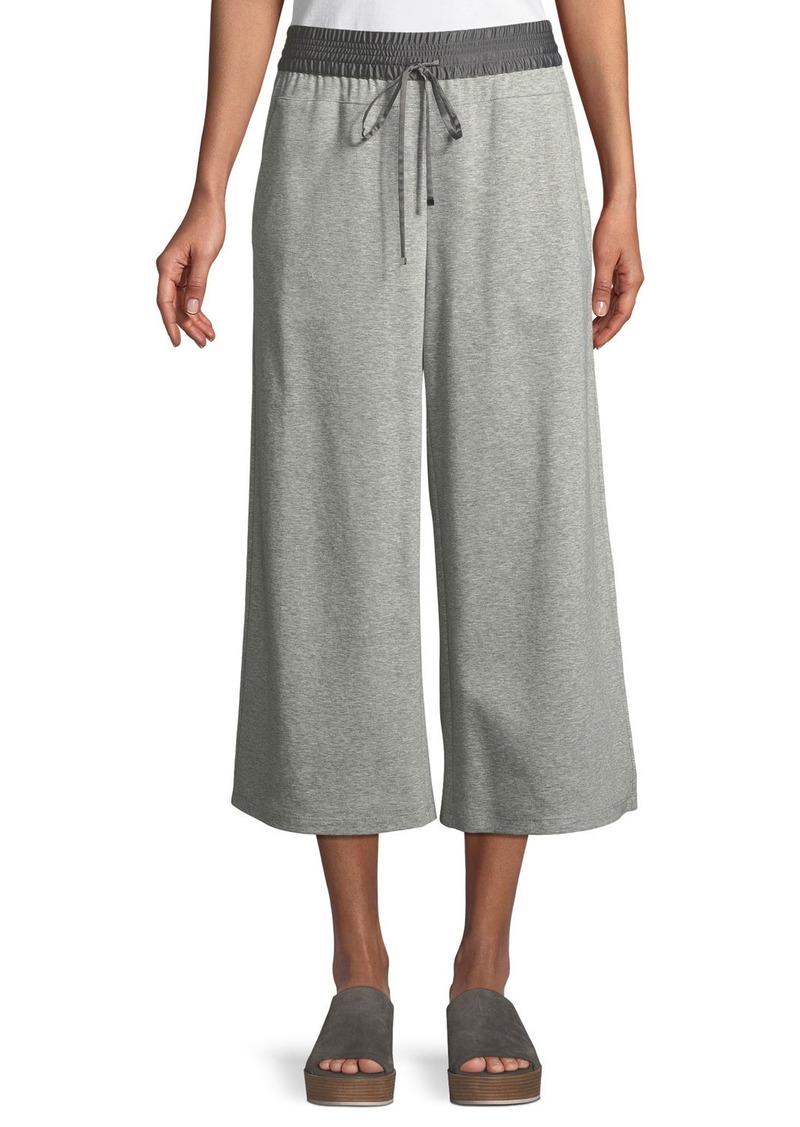 Lafayette 148 Charmeuse-Waist Cropped Pants