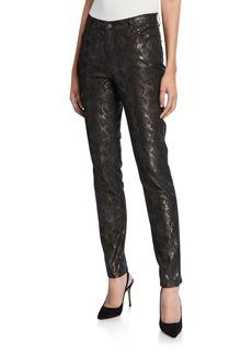 Lafayette 148 Chestnut Curvy Slim-Leg Jeans