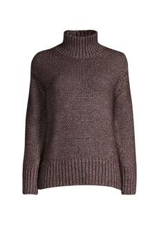 Lafayette 148 Chunky Stitch Turtleneck Sweater