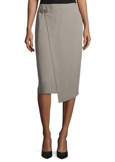 Lafayette 148 Ciara Wrap Pencil Skirt