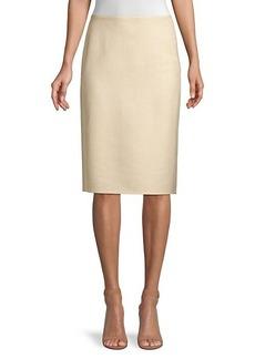 Lafayette 148 Claire Cashmere & Silk-Blend Pencil Skirt