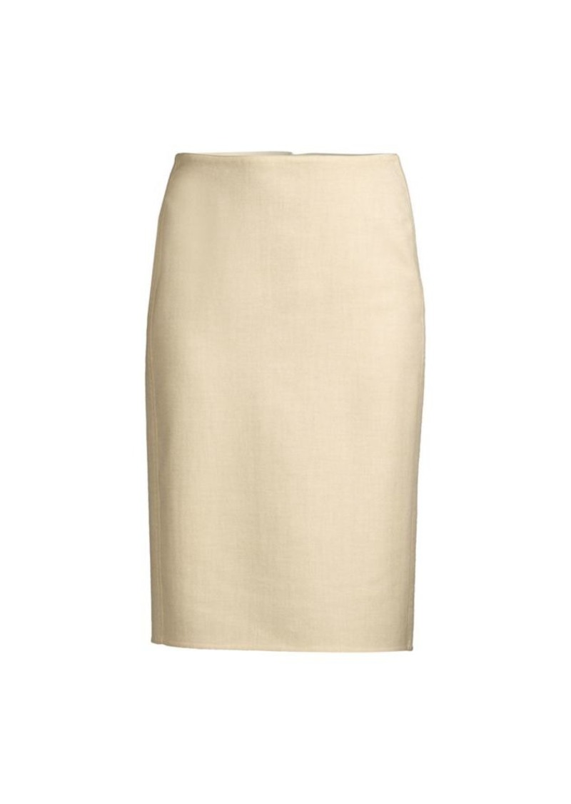 Lafayette 148 Claire Cashmere & Silk-Blend Pencil Skirt