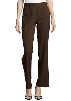 Lafayette 148 Classic Contemporary Stretch-Knit Pants  Espresso