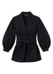 Lafayette 148 Classic Stretch Cotton Wexler Jacket